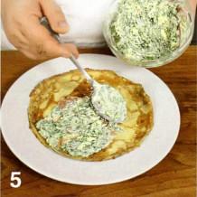 блинчики +с овощной начинкой